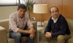 Javier Fernández y Miquel Iceta, en una reunión celebrada el pasado...