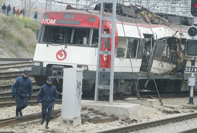 Uno de los trenes afectados por los atentados del 11-M.