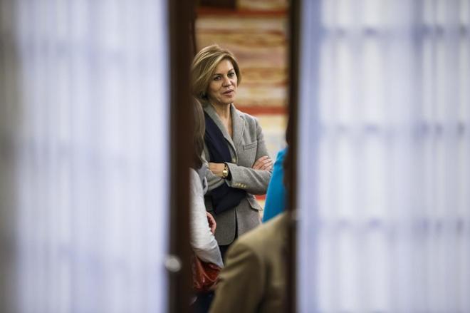 La Ministra de Defensa, MarÍa Dolores de Cospedal, en el Congreso.