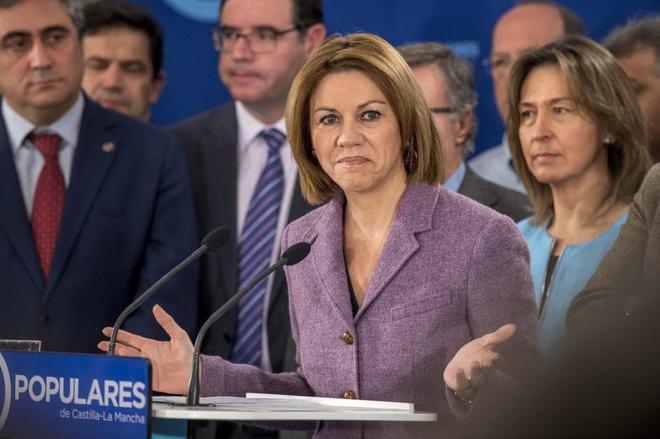 María Dolores de Cospedal, al anunciar su candidatura.