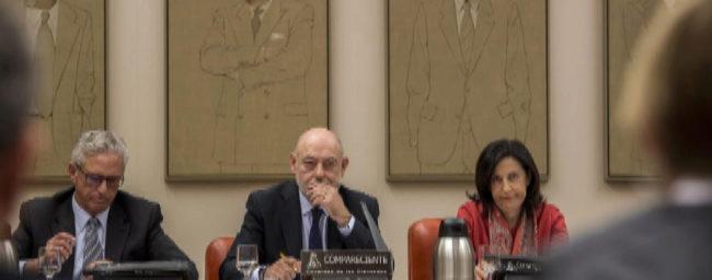 José Manuel Maza (centro), el pasado noviembre en la comisión de...
