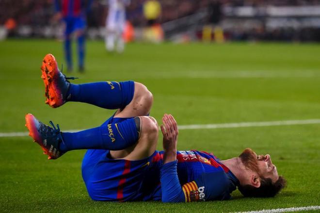 Lionel Messi, durante el partido ante el Leganés.
