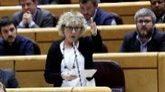 La senadora de ERC Mirella Cortés pregunta al presidente del...