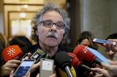 Joan Tardà, portavoz de ERC, al llegar a la Junta de Portavoces en el...