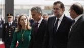 Mauricio Macri, hoy, junto a Mariano Rajoy y los presidentes del...