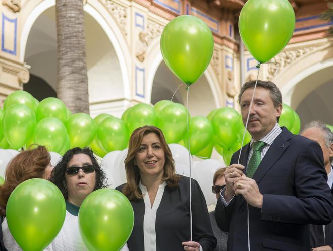 Susana Díaz, en un acto de la ONCE en Sevilla.