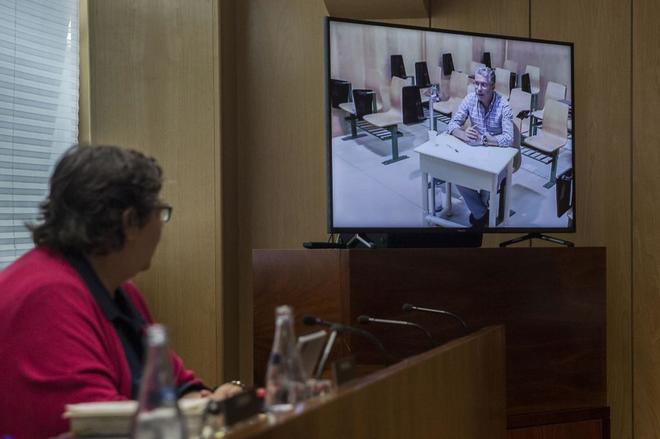 Francisco Granados, durante una declaración por videoconferencia...