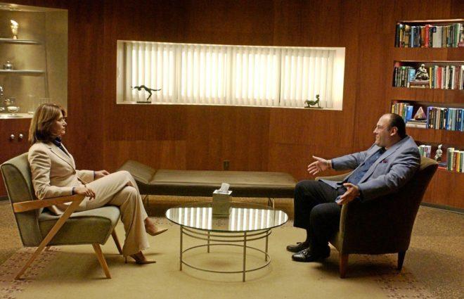 Fotograma de la serie 'Los Soprano' cuando el protagonista...