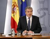 El portavoz del Gobierno y ministro de Educación, Íñigo Méndez de...