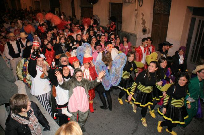 Un momento de las celebraciones del carnaval de Pego.