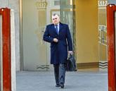 Luis Bárcenas, en los juzgados de San Fernando de Henares, donde se...