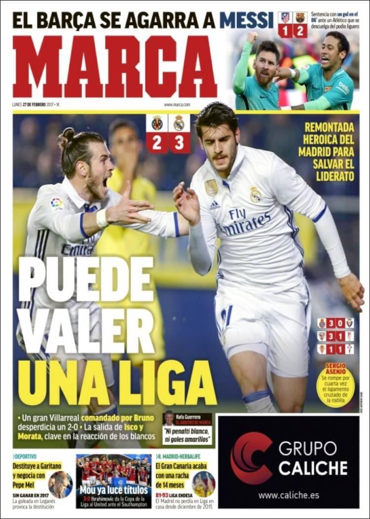 Las portadas de la jornada deportes mas deporte el mundo for El marca del madrid