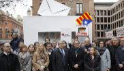 Francesc Homs, acompañado por Artur Mas, Neus Munté y Raul Romeva,...