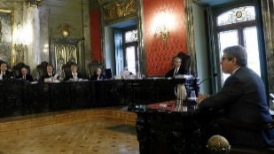 Francesc Homs, hoy en el Supremo, donde ha comenzado a ser juzgado...