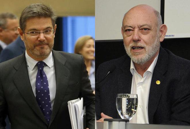 El ministro de Justicia, Rafael Catalá, y el fiscal general del...