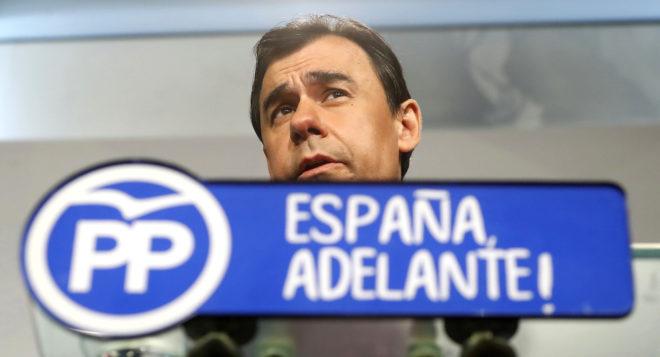 El coordinador del PP, Fernando Martínez-Maíllo, ayer en la sede del...