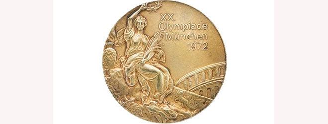Uno de los oros olímpicos ganados por Korbut en 1972.