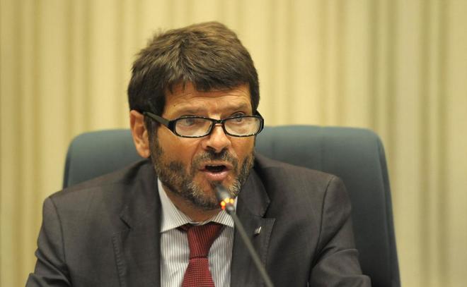 Albert Batlle, director general de los Mossos, en una comparecencia en...
