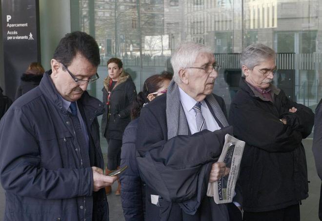 El ex tesorero de CDC Daniel Osàcar entrando en la ciudad de la justicia de Barcelona donde se celebra el juicio por el caso Palau de la Musica. Foto: Santi Cogolludo