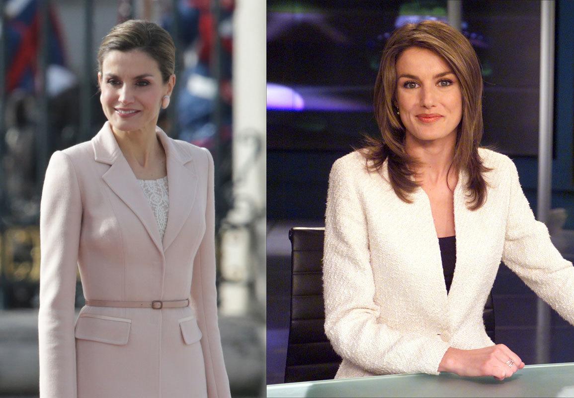 A la izquierda, la Reina en 2017. A la derecha, en 2003.