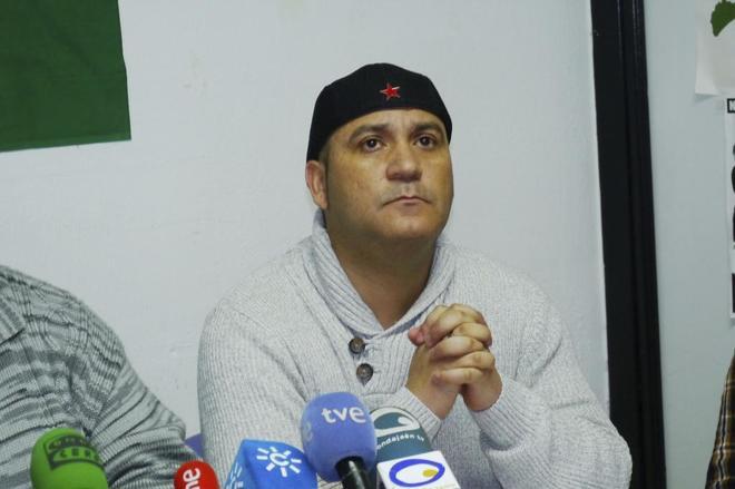 Andrés Bódalo en rueda de prensa días antes de su detención, en marzo del año pasado.