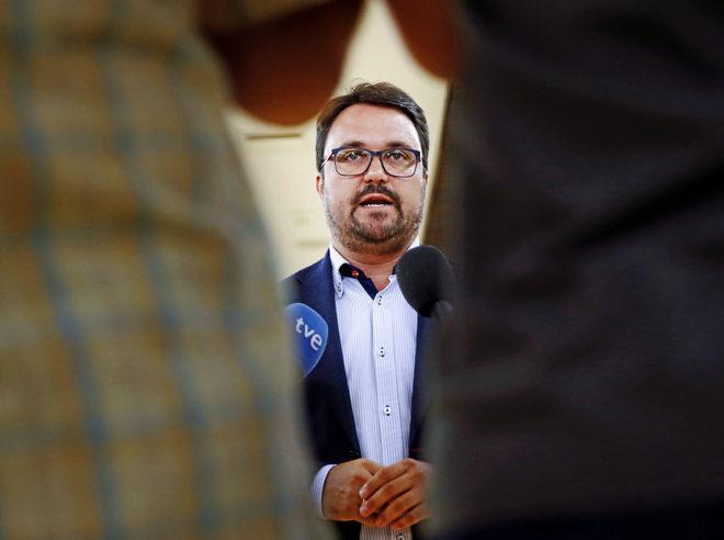 El presidente del PP de Canarias, Asier Antona, en una comparecencia en el Congreso hace unos meses.