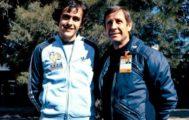 1 de junio de 1978, con Raymond Kopa, fallecido hoy, junto a Michel Platini.