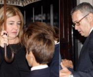 Laura y Miguel Boyer durante el funeral de su madre, Elena Arnedo