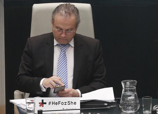Antonio Miguel Carmona en el Pleno del Ayuntamiento de Madrid del pasado martes.
