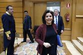 Soraya Sáenz de Santamaría, este martes en el Senado.