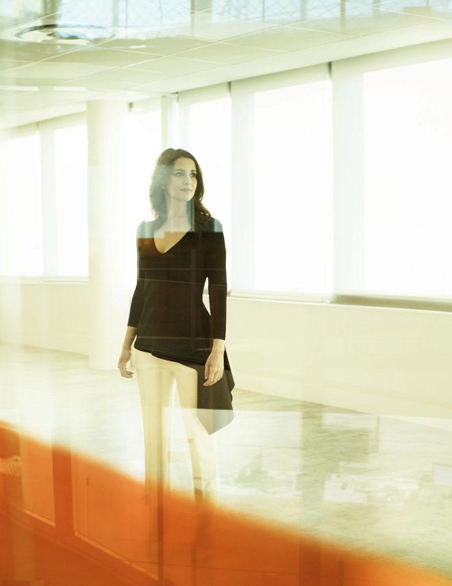 Inés Arrimadas en la sede nacional de Ciudadanos, en la madrileña...