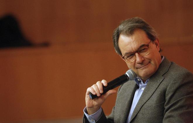 Artur Mas en una conferencia en la Universidad Pompeu Fabra de Barcelona