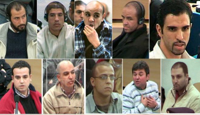 Algunos de los procesados por el atentado del 11-M.