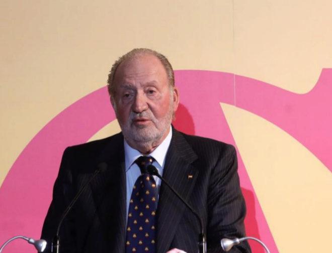 El Rey Juan Carlos, el jueves, en la entrega de unos premios taurinos.