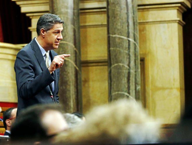 El líder del PPC, Xavier García Albiol, durante una intervención en...