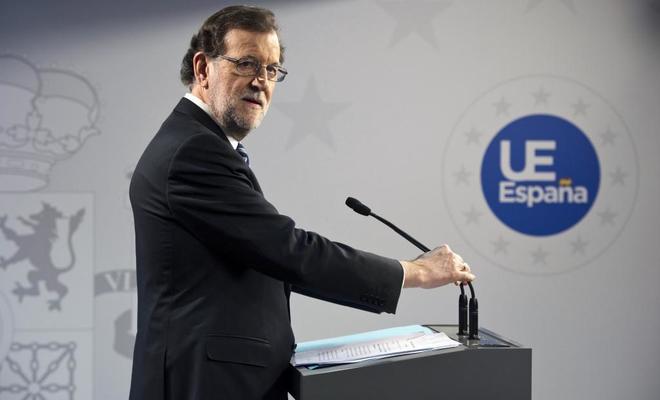 Mariano Rajoy, en la rueda de prensa ofrecida este viernes en...