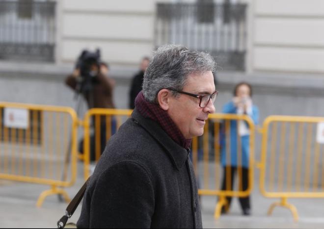 Jordi Pujol Ferrusola, tras declarar en la Audiencia Nacional en 2016.