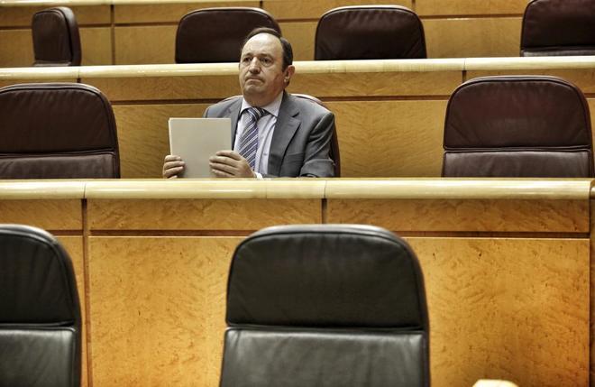 Pedro Sanz, ex presidente de La Rioja, en el Senado.