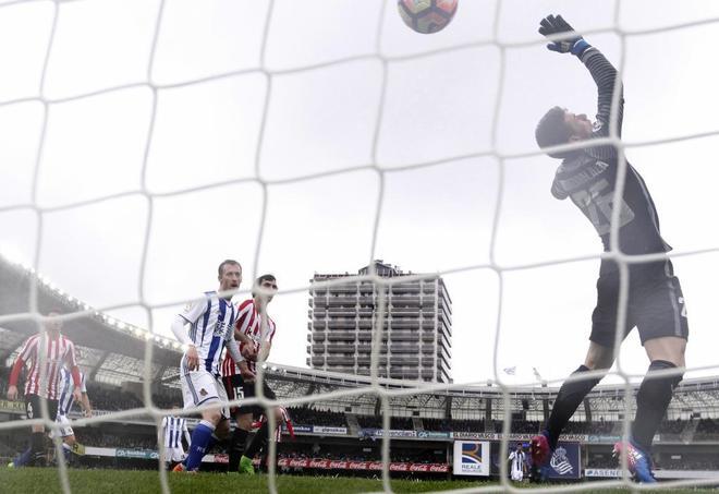Kepa Arrizabalaga, en el partido con la Real Sociedad.