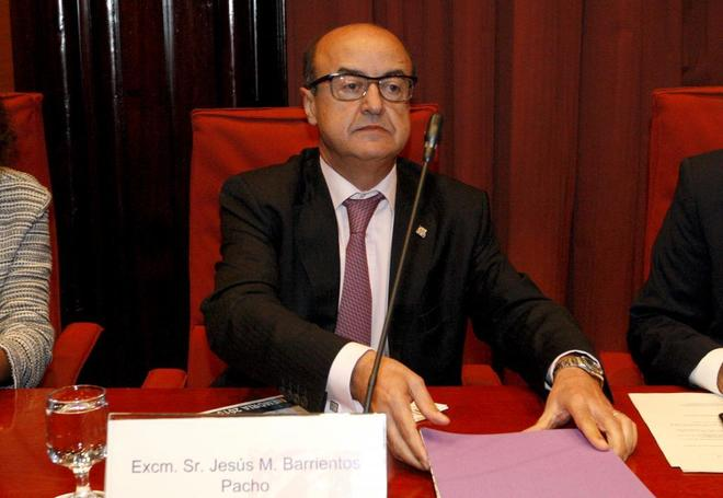 El magistrado Jesús María Barrientos, presidente del Tribunal...