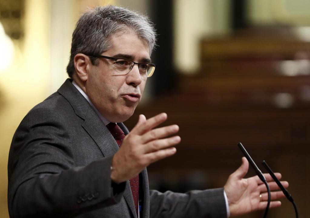 Francesc Homs, durante su intervención en el Congreso.