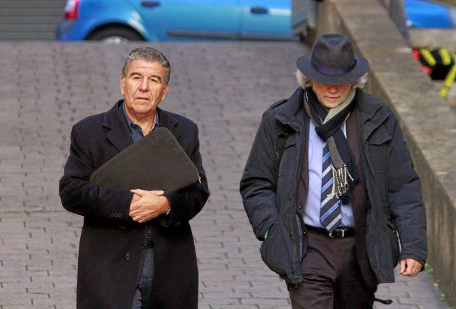 Daniel Mercado llegando a los juzgados, en enero del año pasado.