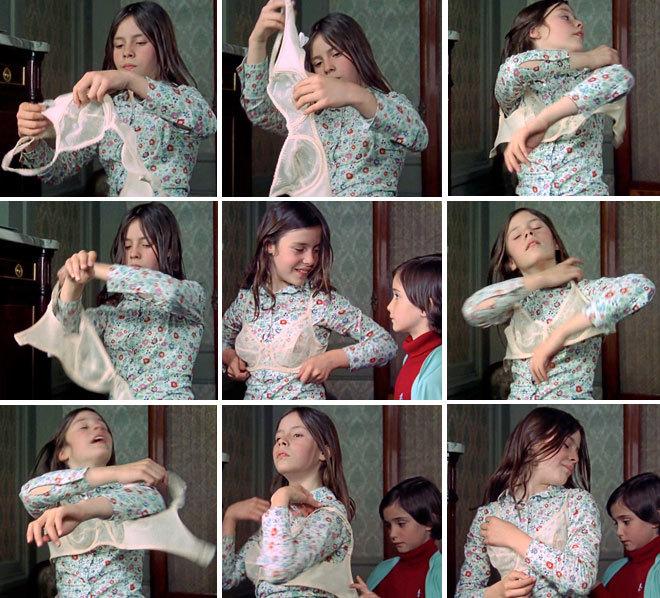 Fotogramas de la película 'Cría cuervos'. Las hermanas...