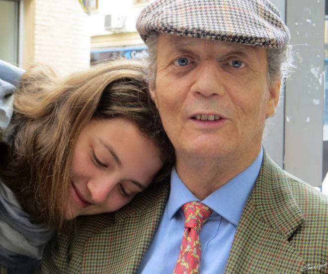 Victoria Hohenlohe junto a su padre Marco en una imagen de archivo