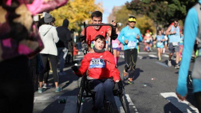 José Manuel y Pablo corriendo juntos.