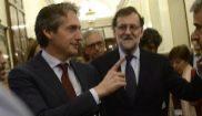 Íñigo de la Serna, esta mañana con Mariano Rajoy en el Congreso.