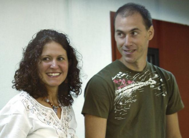 Sara Majarenas y Mikel Orbegozo durante su juicio en la Audiencia...