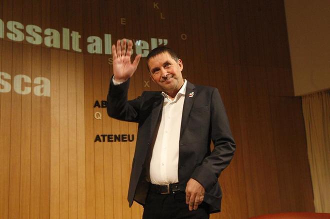 Arnaldo Otegui en un acto en Barcelona el pasado mes de enero.