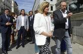La ministra de Empleo, Fátima Báñez, y el portavoz de Ciudadanos,...