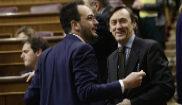 Antonio Hernando y Rafael Hernando, portavoces de PSOE y PP,...